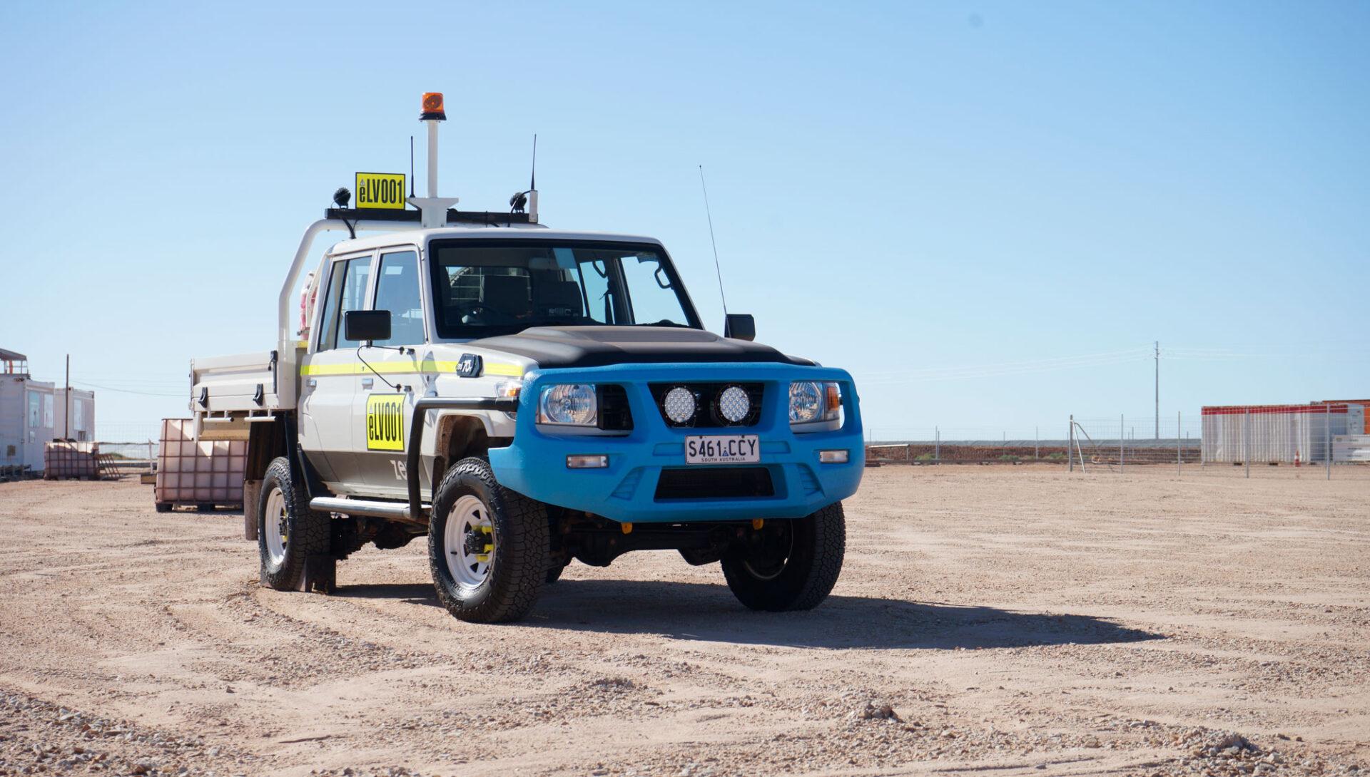 Zero emissions LandCruiser battery electric mining 4x4 light vehicle