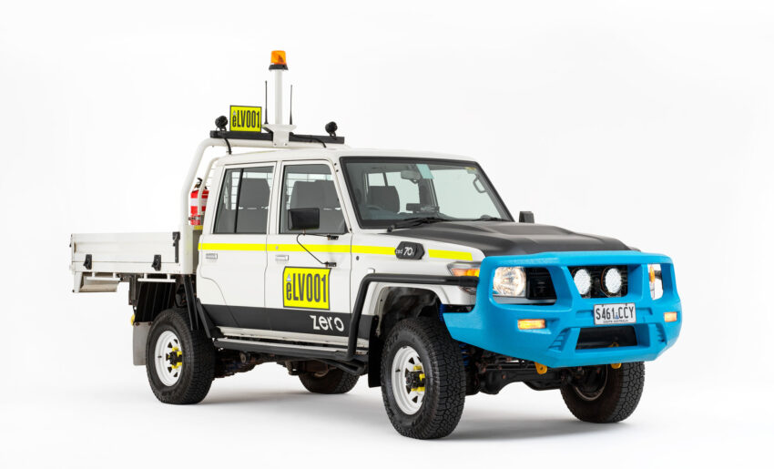 Australian Design Rules approved underground-ready ZED70 Ti battery electric light vehicle