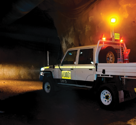 Australian Design Rules approved underground-ready ZED70 Ti battery electric light vehicle in operation